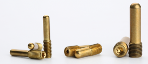 Long brass screw