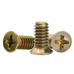 Flat Screw, Countersunk Head Machine Screw Fasteners, Custom Machine Screws