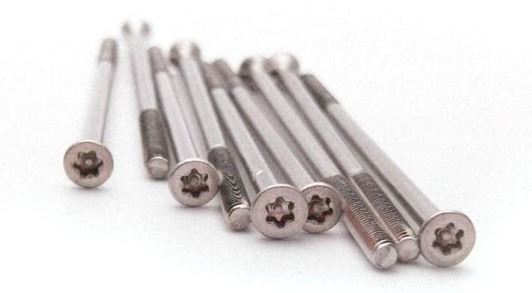long stainless steel screws