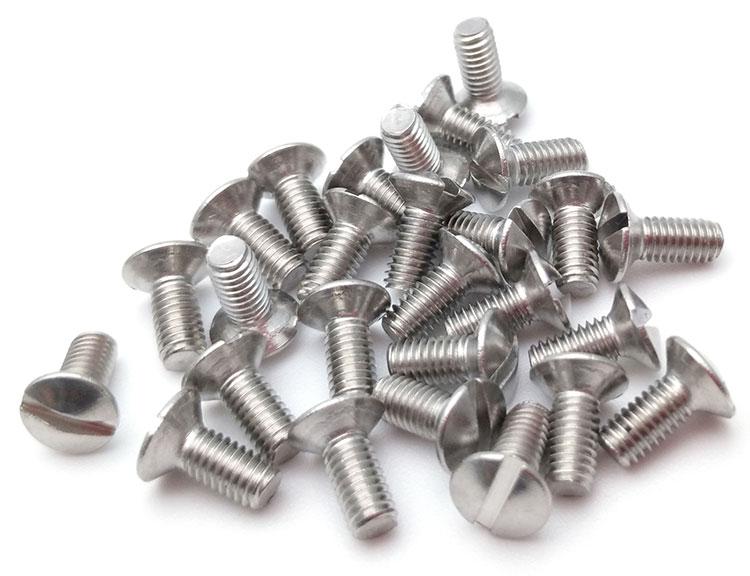 Slotted Oval Head Machine Screws