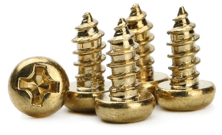tiny brass screws