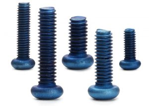 blue anodized screws
