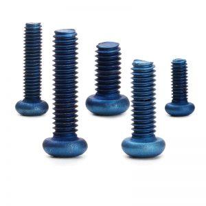 blue anodized titanium screw manufacturer